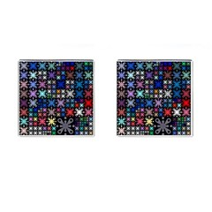 Color Party 01 Cufflinks (square) by MoreColorsinLife