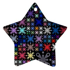 Color Party 01 Star Ornament (two Sides) by MoreColorsinLife