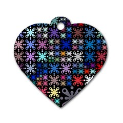 Color Party 01 Dog Tag Heart (one Side) by MoreColorsinLife