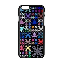 Color Party 01 Apple Iphone 6/6s Black Enamel Case by MoreColorsinLife