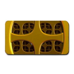 Golden Fractal Window Medium Bar Mats by Simbadda