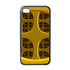 Golden Fractal Window Apple Iphone 4 Case (black)
