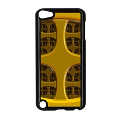 Golden Fractal Window Apple Ipod Touch 5 Case (black) by Simbadda