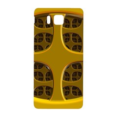 Golden Fractal Window Samsung Galaxy Alpha Hardshell Back Case by Simbadda