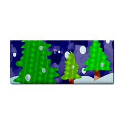 Christmas Trees And Snowy Landscape Cosmetic Storage Cases by Simbadda