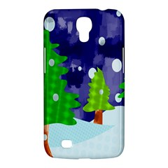 Christmas Trees And Snowy Landscape Samsung Galaxy Mega 6 3  I9200 Hardshell Case