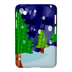 Christmas Trees And Snowy Landscape Samsung Galaxy Tab 2 (7 ) P3100 Hardshell Case  by Simbadda