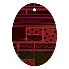 Blaster Master Oval Ornament (two Sides)