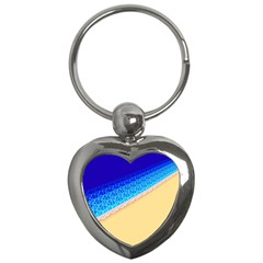 Beach Sea Water Waves Sand Key Chains (heart)  by Alisyart