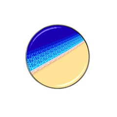 Beach Sea Water Waves Sand Hat Clip Ball Marker (4 Pack)