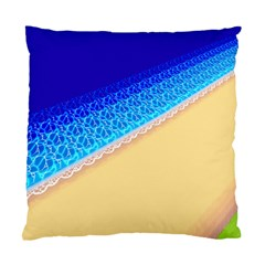 Beach Sea Water Waves Sand Standard Cushion Case (one Side) by Alisyart
