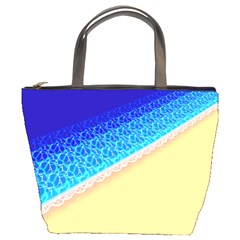 Beach Sea Water Waves Sand Bucket Bags by Alisyart