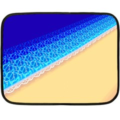 Beach Sea Water Waves Sand Fleece Blanket (mini)