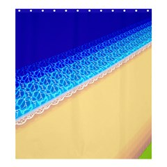 Beach Sea Water Waves Sand Shower Curtain 66  X 72  (large)