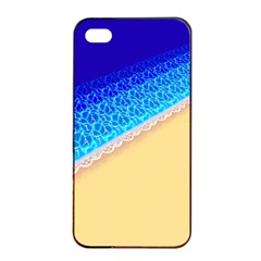 Beach Sea Water Waves Sand Apple Iphone 4/4s Seamless Case (black) by Alisyart