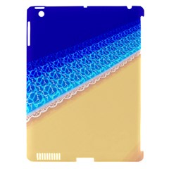 Beach Sea Water Waves Sand Apple Ipad 3/4 Hardshell Case (compatible With Smart Cover) by Alisyart