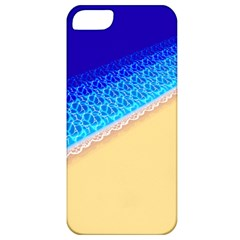Beach Sea Water Waves Sand Apple Iphone 5 Classic Hardshell Case by Alisyart