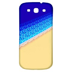 Beach Sea Water Waves Sand Samsung Galaxy S3 S Iii Classic Hardshell Back Case by Alisyart