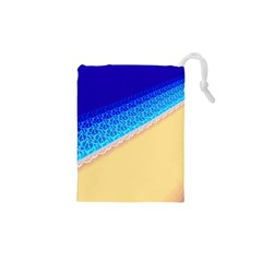 Beach Sea Water Waves Sand Drawstring Pouches (xs)  by Alisyart