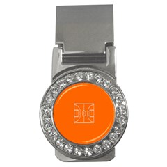 Basketball Court Orange Sport Orange Line Money Clips (cz)  by Alisyart