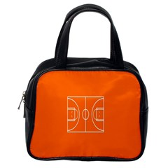 Basketball Court Orange Sport Orange Line Classic Handbags (one Side) by Alisyart