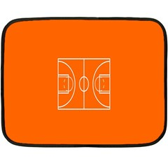Basketball Court Orange Sport Orange Line Fleece Blanket (mini) by Alisyart