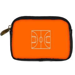 Basketball Court Orange Sport Orange Line Digital Camera Cases by Alisyart