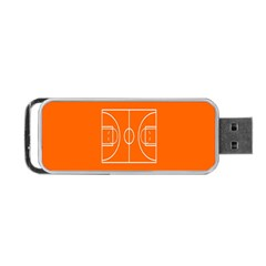 Basketball Court Orange Sport Orange Line Portable Usb Flash (one Side) by Alisyart