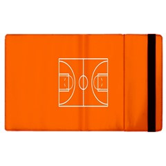 Basketball Court Orange Sport Orange Line Apple Ipad 2 Flip Case by Alisyart