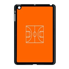 Basketball Court Orange Sport Orange Line Apple Ipad Mini Case (black)
