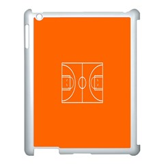 Basketball Court Orange Sport Orange Line Apple Ipad 3/4 Case (white)