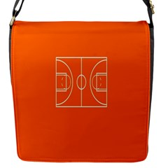 Basketball Court Orange Sport Orange Line Flap Messenger Bag (s) by Alisyart