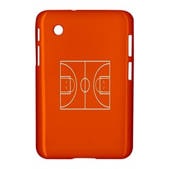 Basketball Court Orange Sport Orange Line Samsung Galaxy Tab 2 (7 ) P3100 Hardshell Case  by Alisyart