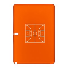 Basketball Court Orange Sport Orange Line Samsung Galaxy Tab Pro 10 1 Hardshell Case by Alisyart