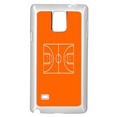 Basketball Court Orange Sport Orange Line Samsung Galaxy Note 4 Case (white) by Alisyart