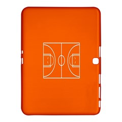 Basketball Court Orange Sport Orange Line Samsung Galaxy Tab 4 (10 1 ) Hardshell Case  by Alisyart