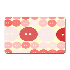 Buttons Pink Red Circle Scrapboo Magnet (rectangular) by Alisyart