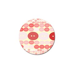 Buttons Pink Red Circle Scrapboo Golf Ball Marker by Alisyart