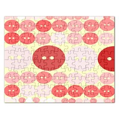 Buttons Pink Red Circle Scrapboo Rectangular Jigsaw Puzzl by Alisyart