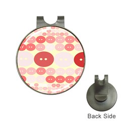 Buttons Pink Red Circle Scrapboo Hat Clips With Golf Markers by Alisyart