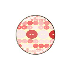 Buttons Pink Red Circle Scrapboo Hat Clip Ball Marker (4 Pack) by Alisyart
