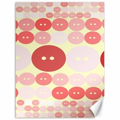 Buttons Pink Red Circle Scrapboo Canvas 18  X 24   by Alisyart