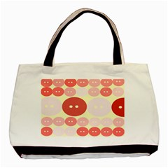 Buttons Pink Red Circle Scrapboo Basic Tote Bag (two Sides) by Alisyart