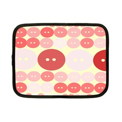 Buttons Pink Red Circle Scrapboo Netbook Case (small)  by Alisyart