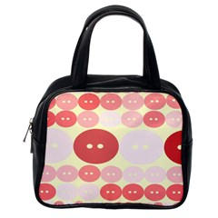Buttons Pink Red Circle Scrapboo Classic Handbags (one Side)