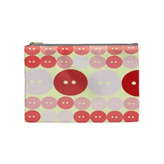 Buttons Pink Red Circle Scrapboo Cosmetic Bag (medium)  by Alisyart