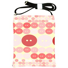 Buttons Pink Red Circle Scrapboo Shoulder Sling Bags