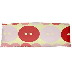 Buttons Pink Red Circle Scrapboo Body Pillow Case Dakimakura (two Sides) by Alisyart