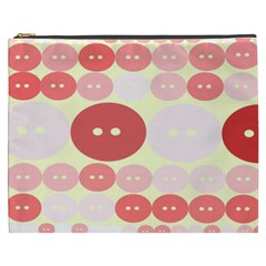 Buttons Pink Red Circle Scrapboo Cosmetic Bag (xxxl)