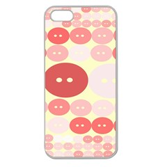 Buttons Pink Red Circle Scrapboo Apple Seamless Iphone 5 Case (clear)